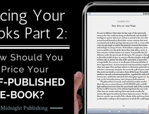 Pricing Your Books Part 2: How Should You Price Your Self-Published E-Book?