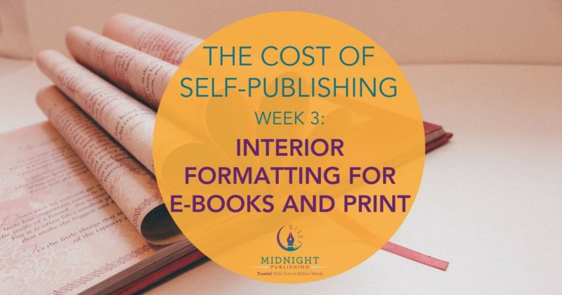 Interior formatting for e-book and print