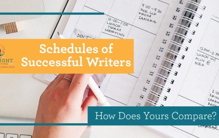 Schedules of successful authors